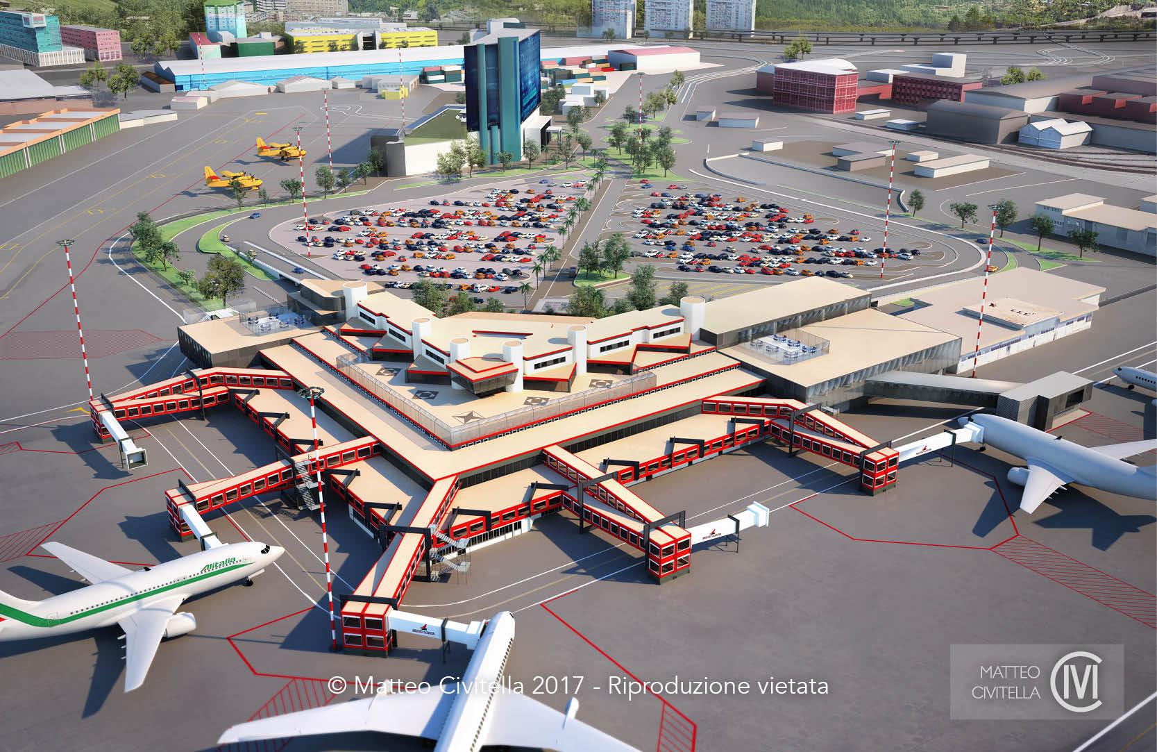 Render – Aeroporto di Genova